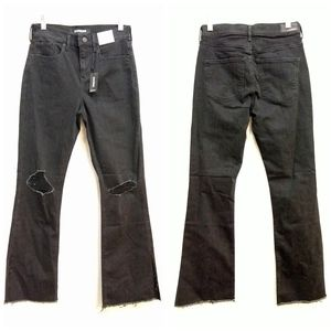 EXPRESS nwt Ripped Super High Rise Boot Cut Jeans